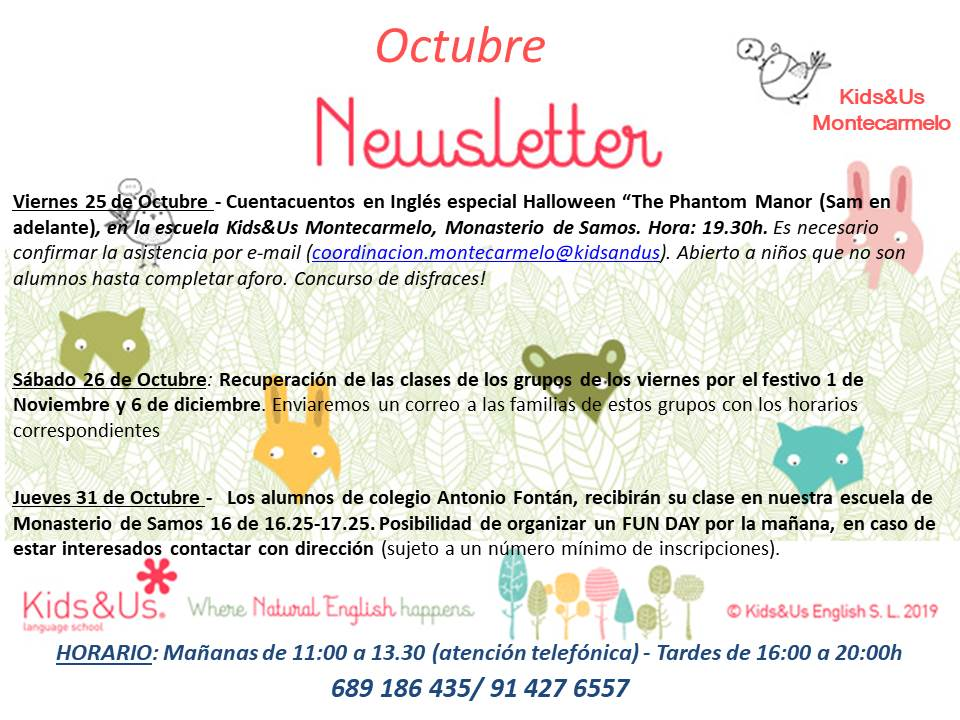 NEWSLETTER OCTUBRE